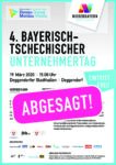 Absage 4. Bayerisch-Tschechischer Unternehmertag am 19.03.2020